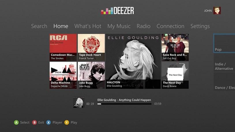 Deezer w wersji dla konsoli Xbox 360 /materiały prasowe