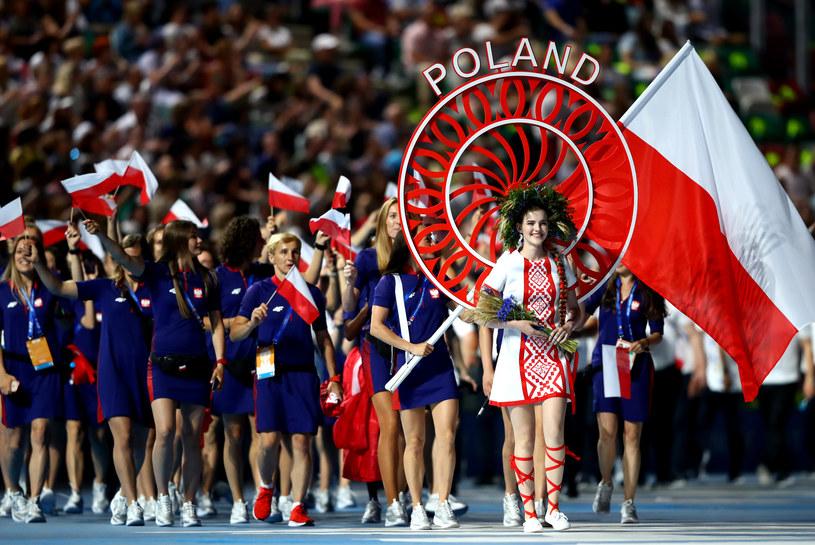 Defilada reprezentacji Polski podczas ceremonii otwarcia igrzysk europejskich w Mińsku /Getty Images