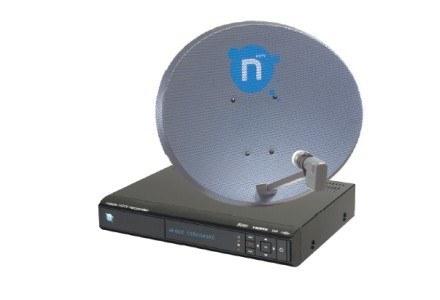 Dekoder nBox recorder i antena satelitarna o średnicy 70 centymetrów umożliwiają odbiór telewizji HD /PC Format