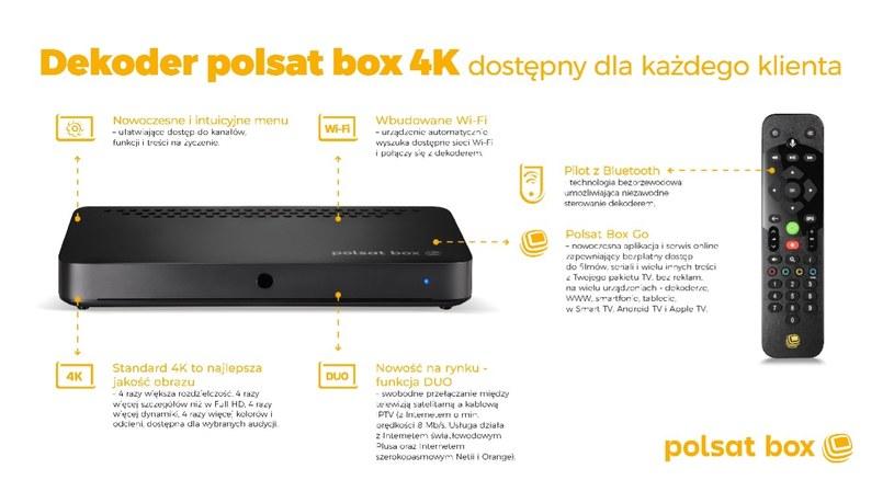 Dekoder Polsat Box 4K /materiały prasowe