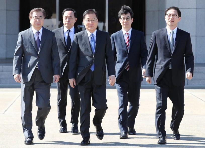 Delegacja Korei Płd. spotkała się z Kim Dzong Unem /YONHAP   /PAP/EPA