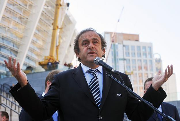 Delegacja UEFA z Michaelem Platinim na czele oceni przygotowania do Euro 2012 /AFP