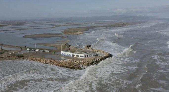 Delta Ebro po sztormie Gloria /SUSANNA SAEZ  /PAP/EPA