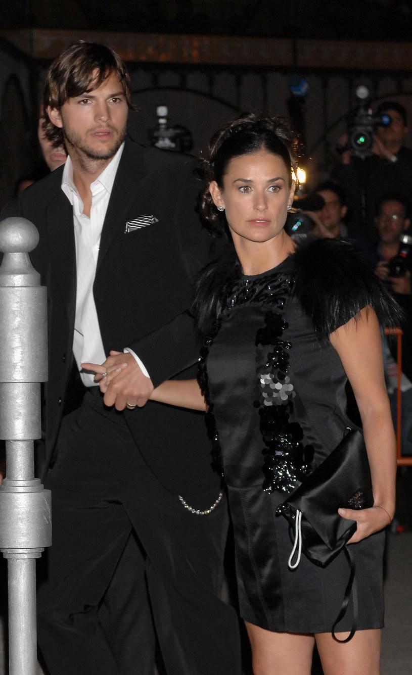Demi Moore i Ashton Kutcher - między nimi była różnica 15 lat /Getty Images
