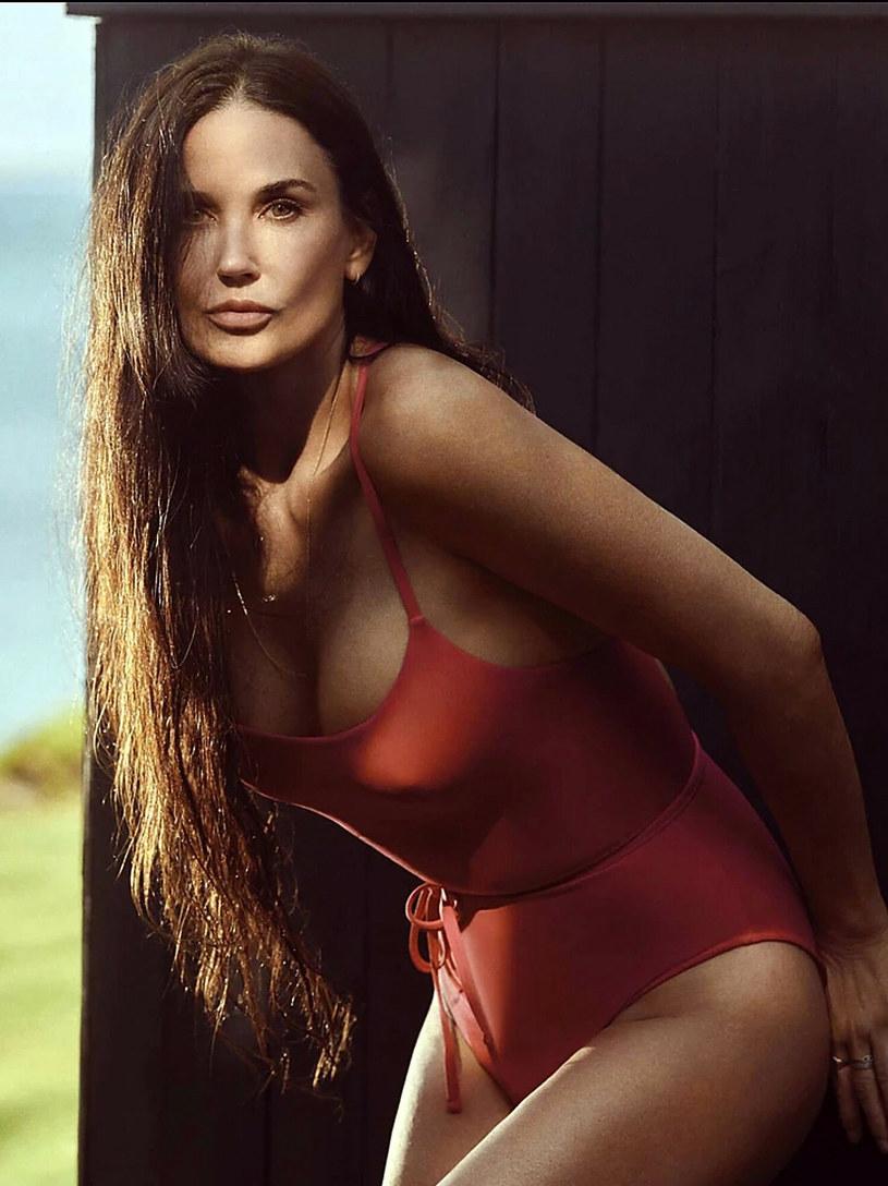 Demi Moore w kampanii kostiumów kąpielowych /EastNews /East News