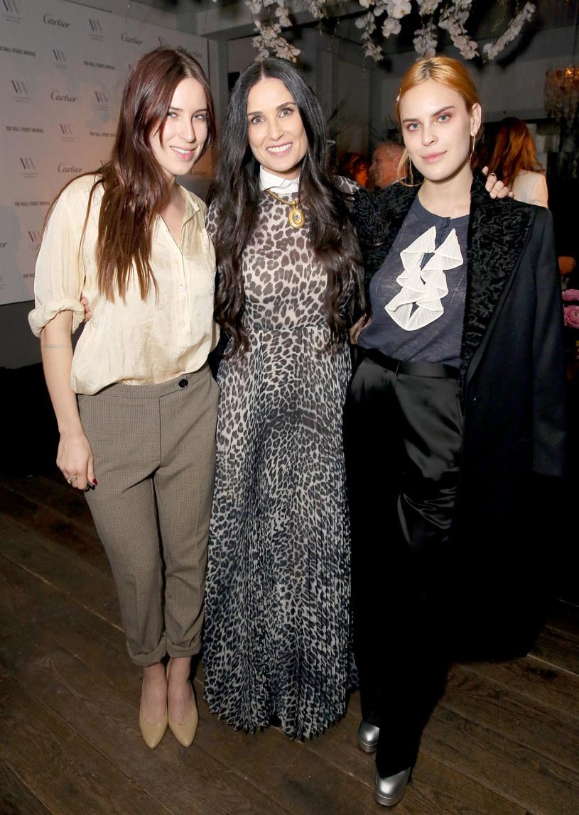 Demi Moore z córkami Scout i Tallulah /Rachel Murray /Getty Images
