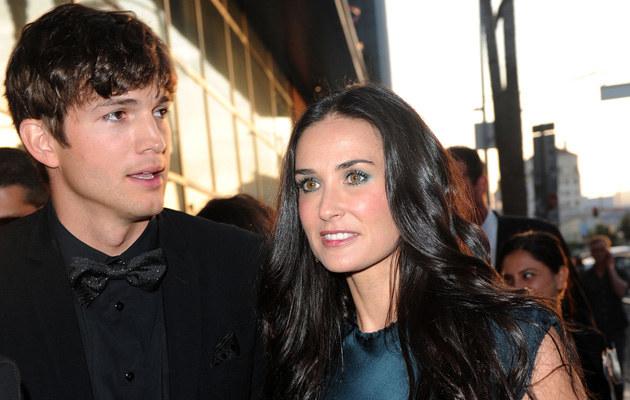 Demi Moore z mężem Ashtonem Kutcherem, fot.Alberto E. Rodriguez  /Getty Images/Flash Press Media