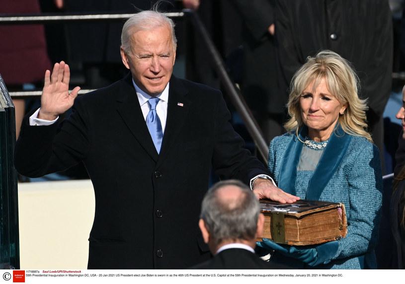Demokrata Joe Biden został zaprzysiężony na 46. prezydenta USA. /Saul Loeb/UPI/Shutterstock /East News