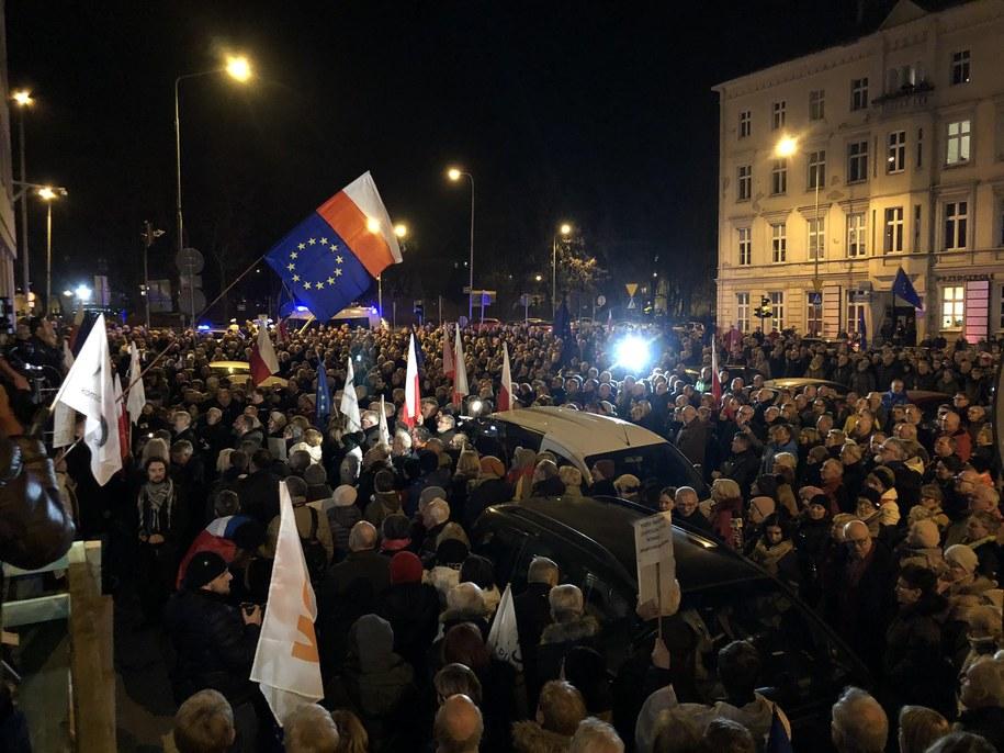 """Demonstracja """"Dziś sędziowie - jutro Ty"""" /Mateusz Chłystun /RMF FM"""