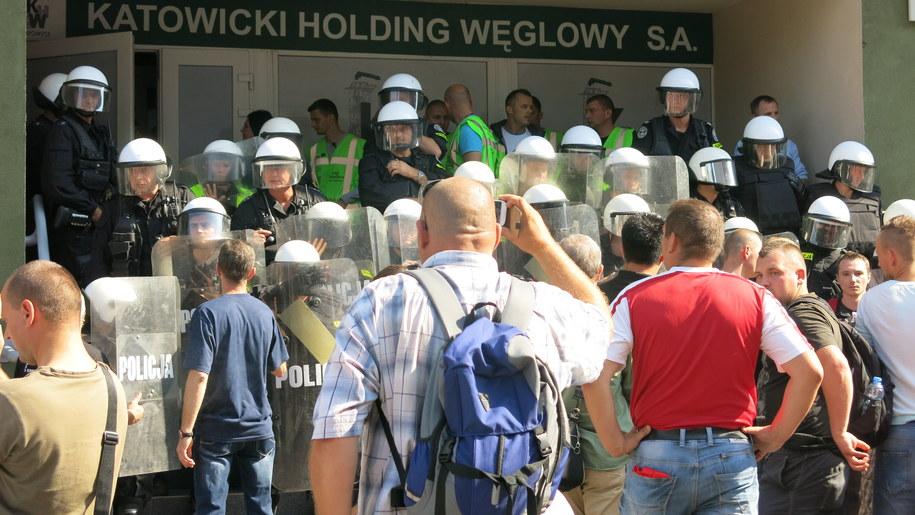 Demonstracja górników /Józef Polewka RMF FM /RMF FM