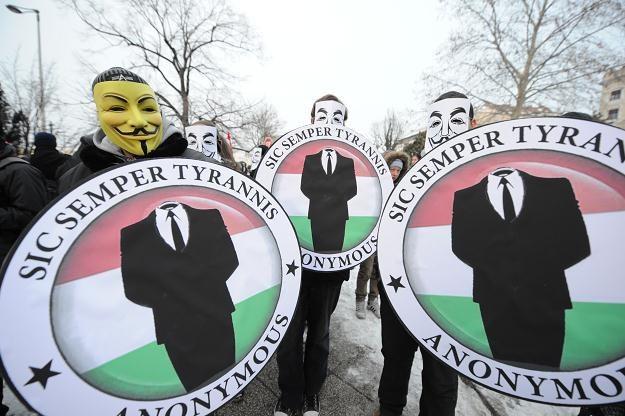 Demonstracja na Węgrzech /AFP