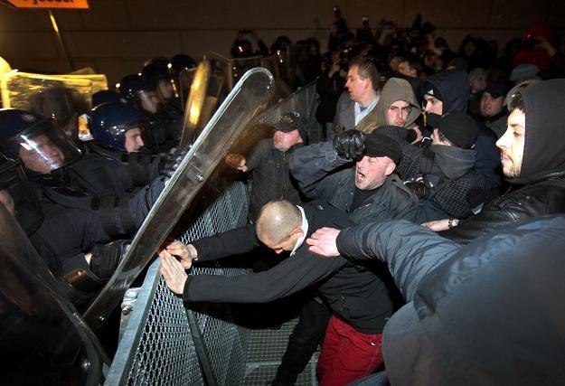 Demonstracja pod siedzibą chorwackiego rządu w Zagrzebiu /AFP