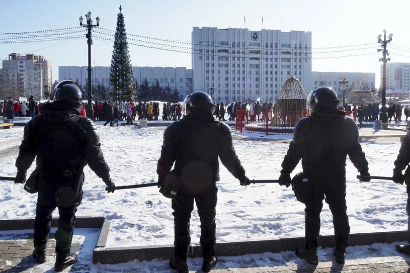 Demonstracja poparcia dla Aleksieja nawalnego w Chabarowsku /AP/Associated Press/East News /East News