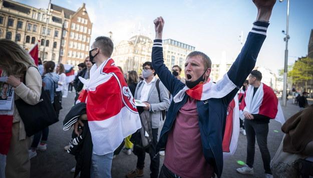 Demonstracja przeciwko reżimowi Łukaszenki /JEROEN JUMELET /PAP/EPA