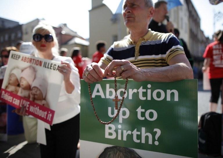 Demonstracja przeciwników aborcji w Irlandii Północnej /AFP