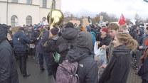 Demonstracja przeciwników AFD w Riesa