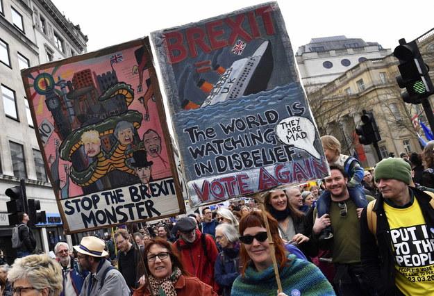Demonstracja przeciwników brexitu w Londynie /NEIL HALL /PAP/EPA