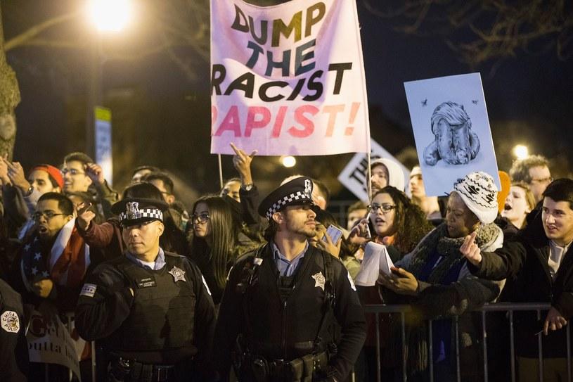 Demonstracja przeciwników Trumpa /AFP