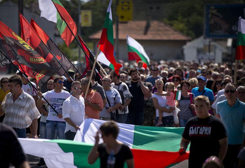 Demonstracja w Harmanli przeciwko migrantom na początku września /AFP