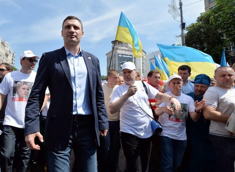 Demonstracja w Kijowie /PAP