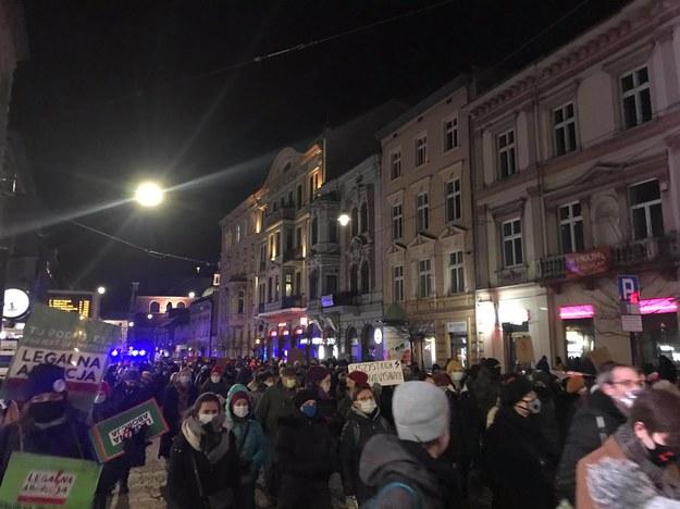 Demonstracja w obronie praw kobiet w Krakowie /Katarzyna Staszko /RMF FM