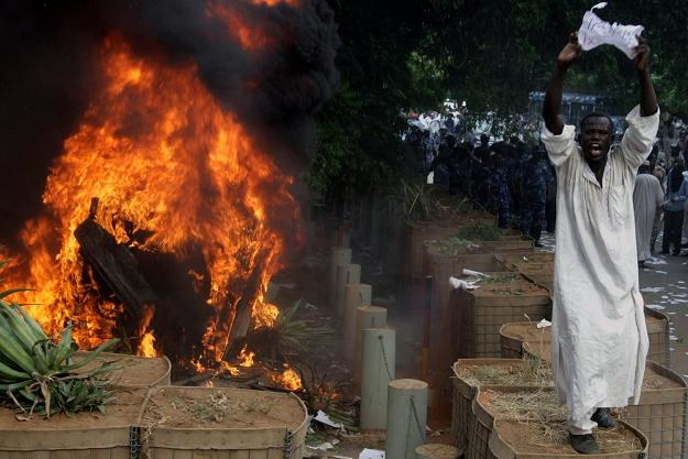 Demonstracja w Sudanie /PAP/EPA