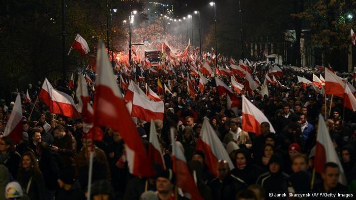 Demonstracja /Deutsche Welle
