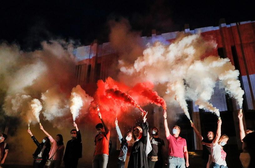 Demonstracje na Białorusi /SERGEY DOLZHENKO /PAP/EPA