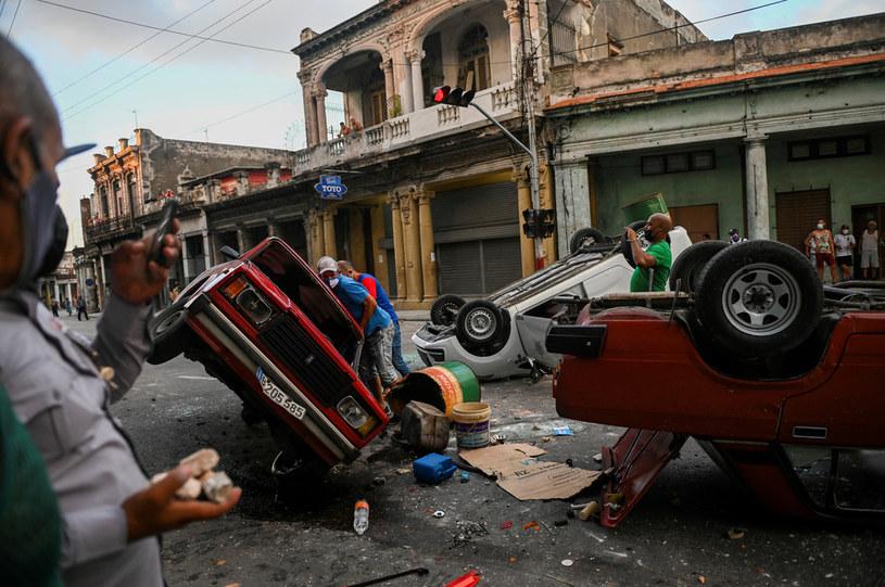 Demonstracje na Kubie /AFP
