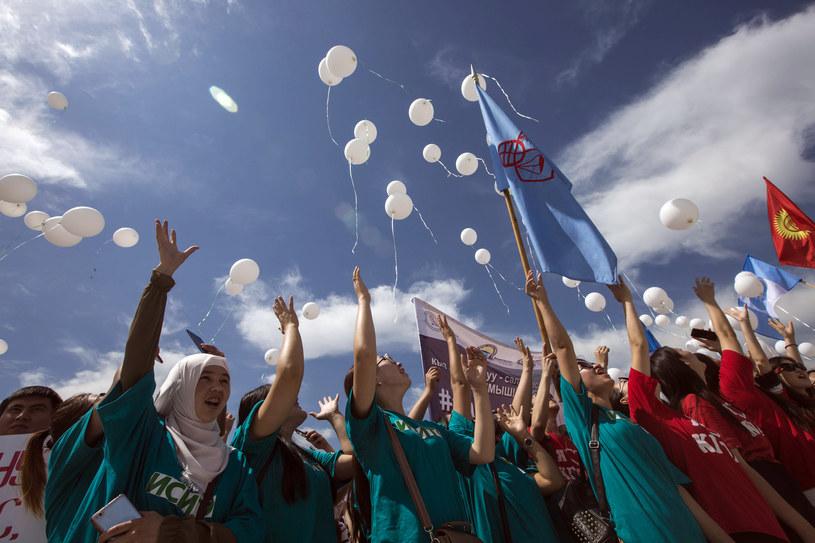 Demonstracje w Biszkeku /DMITRY MOTINOV  /AFP