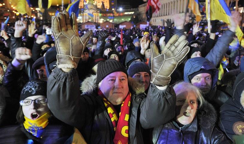 Demonstracje w Kijowie /AFP