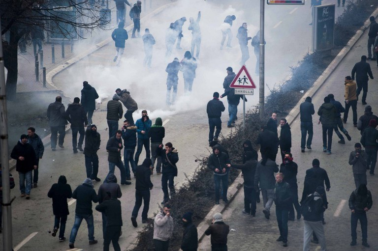 Demonstracje w Kosowie /ARMEND NIMANI / AFP /AFP