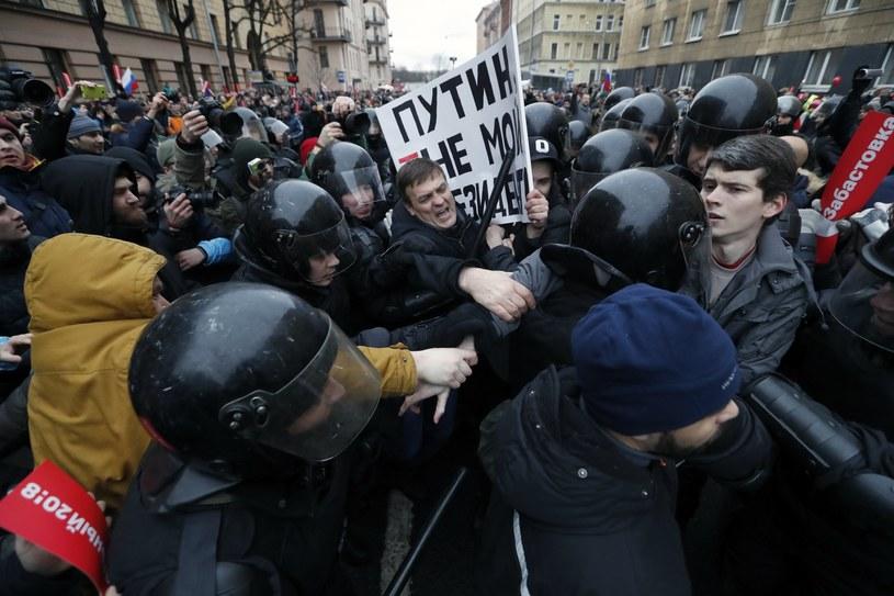 Demonstracje w Rosji /ANATOLY MALTSEV  /PAP/EPA