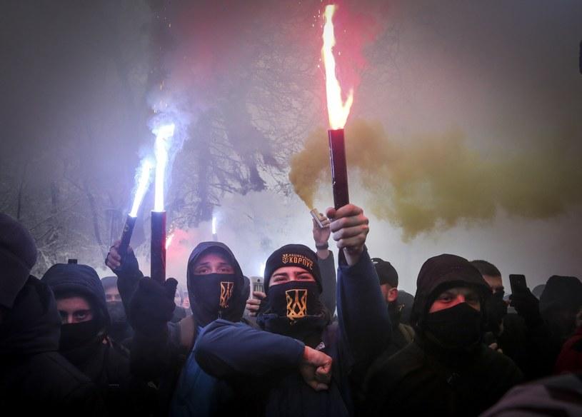 Demonstranci w Kijowie /Associated Press /East News