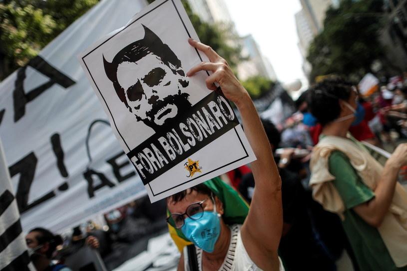 Demonstrujący w Rio de Janeiro /PAP/EPA/ANTONIO LACERDA /PAP