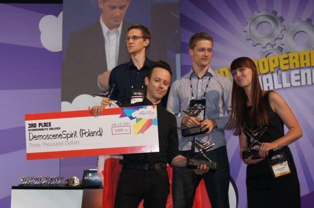 Demoscene Spirit - Łukasz Michniewicz, Szymon Majewski, Magdalena Dudarska i Marek Banaszak /INTERIA.PL