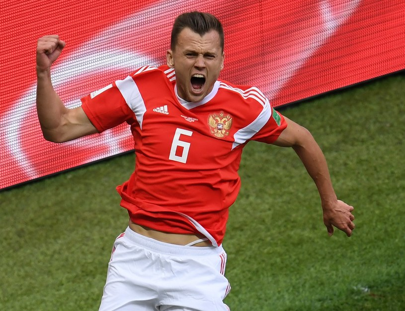 Denis Czeryszew cieszy się z gola /Getty Images
