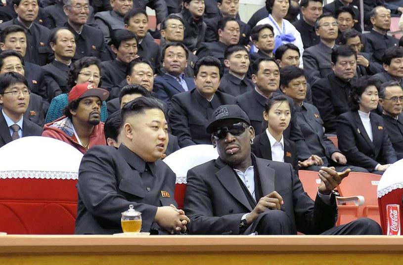 Denis Rodman i Kim Dzong Un /AFP