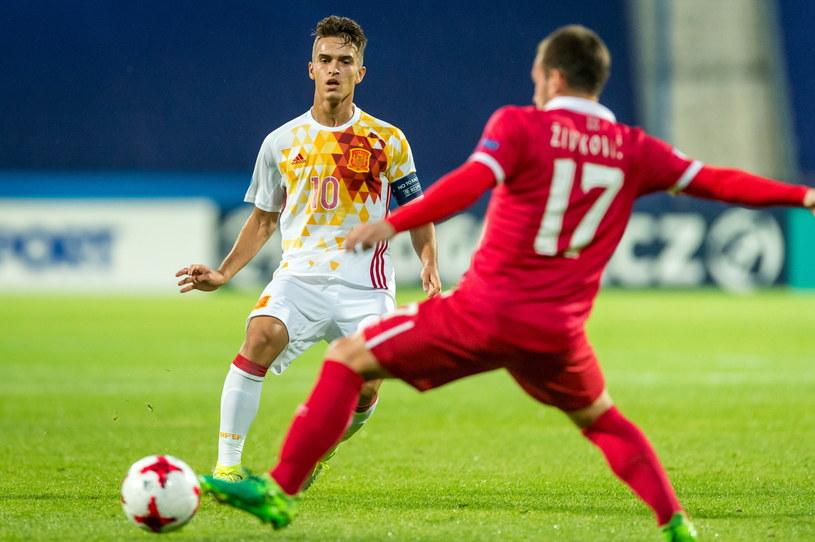 Denis Suarez (L) w meczu z Serbią /Tytus Żmijewski /PAP