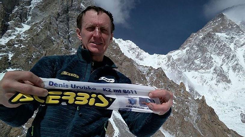 Denis Urubko, w tle - K2 /East News