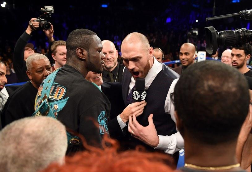 Deontay Wilder i Tyson Fury /AFP