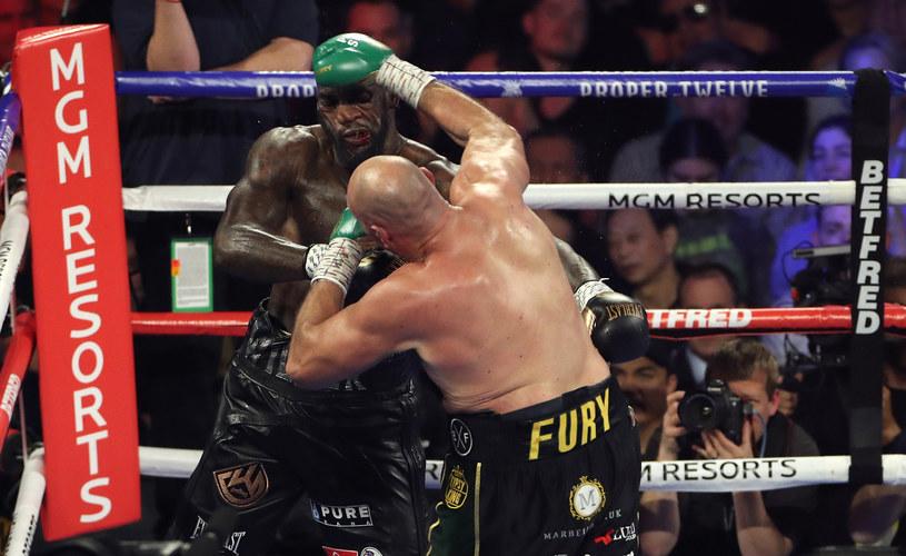 Deontay Wilder w walce z Tysonem Furym /Getty Images