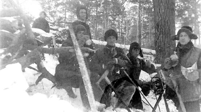Deportowani 10 lutego 1940 roku z Kolonii Sobótka. Zdjęcie pochodzi ze strony http://www.ipn.gov.pl /