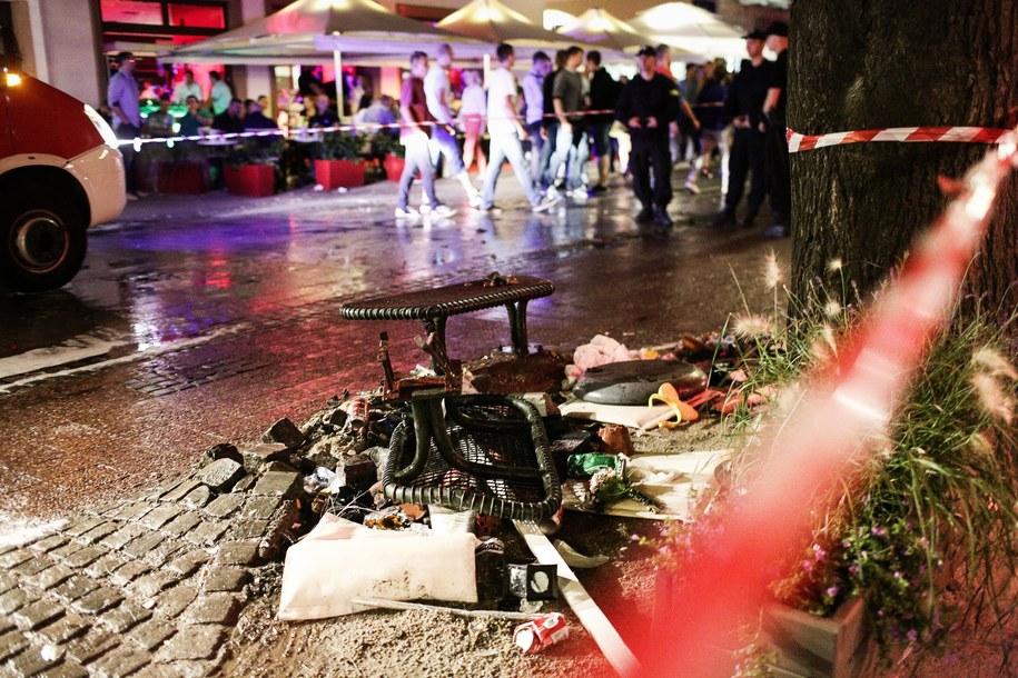 Deptak w Sopocie zaraz po wypadku /Piotr Wittman /PAP