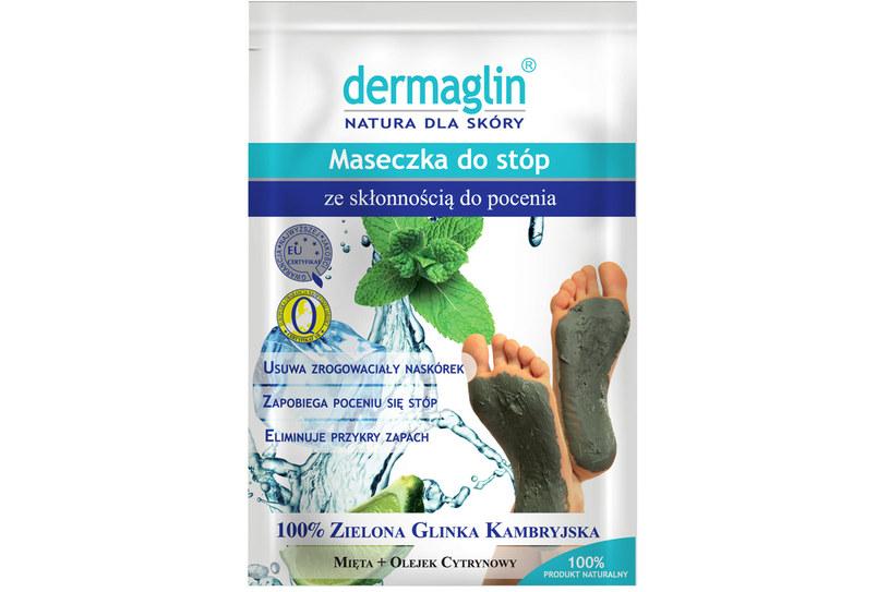 Dermaglin - regenerująca maska dla stóp ze skłonnością do pocenia /Styl.pl/materiały prasowe