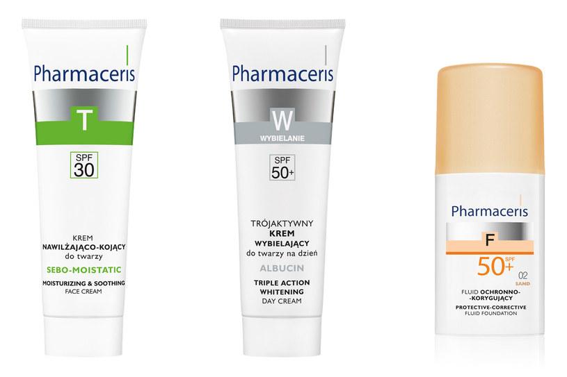 Dermokosmetyki z filtrem SPF, Pharmaceris /materiały prasowe