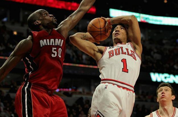 Derrick Rose rzucił 34 punkty w meczu z Heat /AFP
