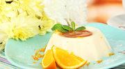 Deser twarożkowy z pomarańczą