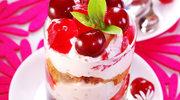 Deser z wiśniami