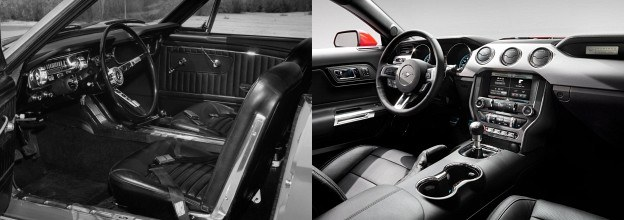 Deski rozdzielcze Mustanga: rocznik 1964 i 2015 /Ford